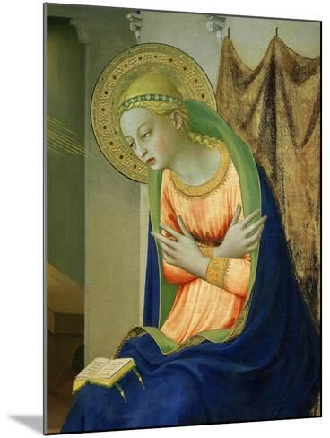 Virgin Mary, from Annunciation Altarpiece, 1430-35 (Detail)-Fra Angelico-Mounted Giclee Print