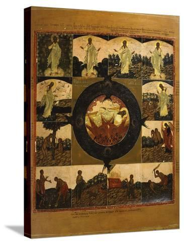 The Creation of the World, Icon, Late 18th Century Russian--Stretched Canvas Print