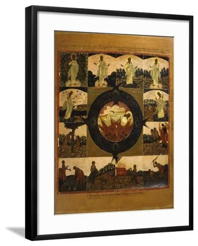 The Creation of the World, Icon, Late 18th Century Russian--Framed Art Print