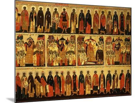 Calendar for July Showing Councils of Constantinople and Ephesus, Icon, Mid 18th Century--Mounted Giclee Print