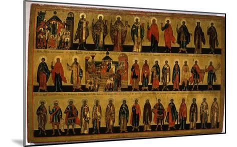 Calendar for October, Icon, Mid 18th Century Novgorod School Russian--Mounted Giclee Print