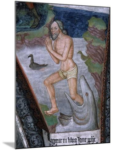 Jonah Stepping from Whale's Mouth, Fresco, 15th - 16th Century--Mounted Giclee Print