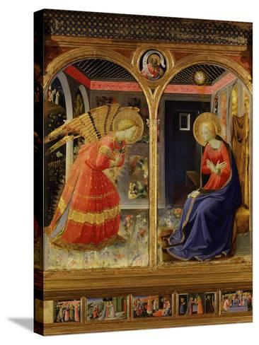 The Annunciation, from C. 1440 Altarpiece of Convent of Montecarlo-Fra Angelico-Stretched Canvas Print
