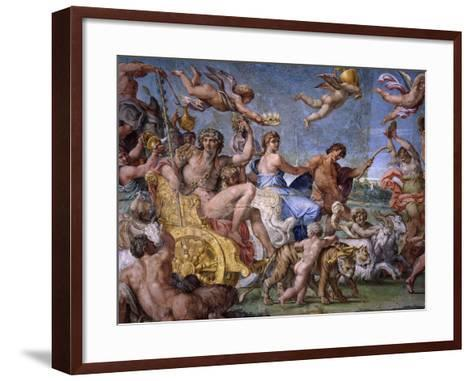 Triumph of Bacchus and Ariadne, from Loves of the Gods Frescos-Annibale Carracci-Framed Art Print