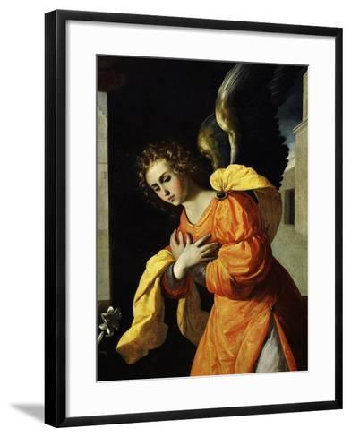 Angel Gabriel, from the Annunciation, 1638-39 (Detail)-Francisco de Zurbar?n-Framed Art Print