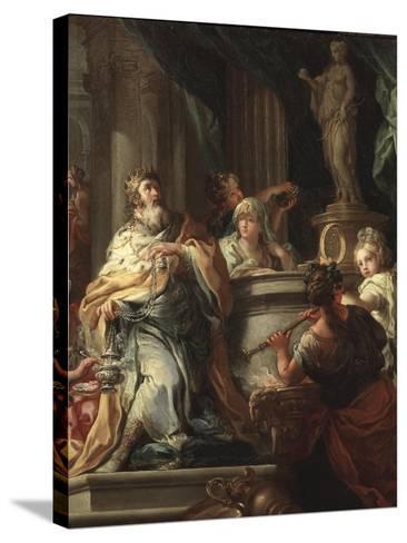 The Idolatry of Solomon (Detail)-Sebastiano Conca-Stretched Canvas Print