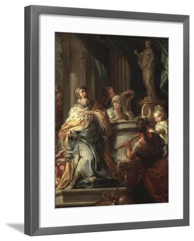 The Idolatry of Solomon (Detail)-Sebastiano Conca-Framed Art Print