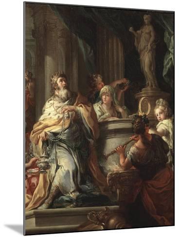 The Idolatry of Solomon (Detail)-Sebastiano Conca-Mounted Giclee Print