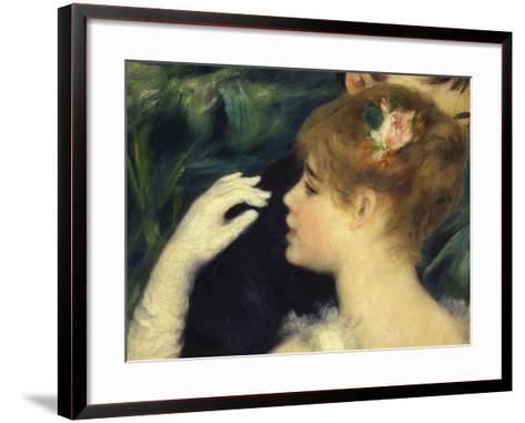 Danse a La Ville, Dancing in Town, 1883, Detail-Pierre-Auguste Renoir-Framed Art Print