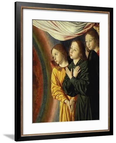 Angels, from Bourbon Altarpiece, Late 15th Century (Detail)-Jean Hey-Framed Art Print