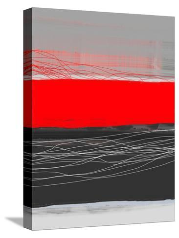 Abstract Stripe Theme Red-NaxArt-Stretched Canvas Print