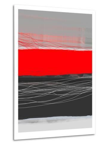 Abstract Stripe Theme Red-NaxArt-Metal Print