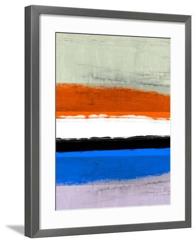 Abstract Stripe Theme White and Black-NaxArt-Framed Art Print