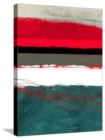 Abstract Stripe Theme Grey and White-NaxArt-Stretched Canvas Print