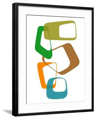 Abstract Rings 1-NaxArt-Framed Art Print
