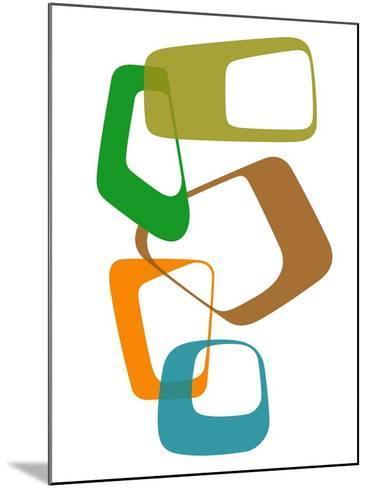 Abstract Rings 1-NaxArt-Mounted Art Print