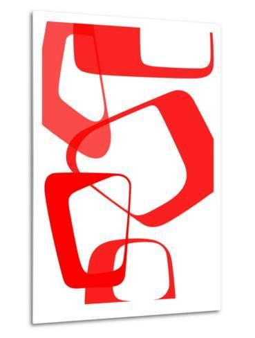 Abstract Rings 3-NaxArt-Metal Print
