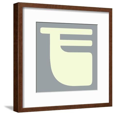 Letter F White-NaxArt-Framed Art Print