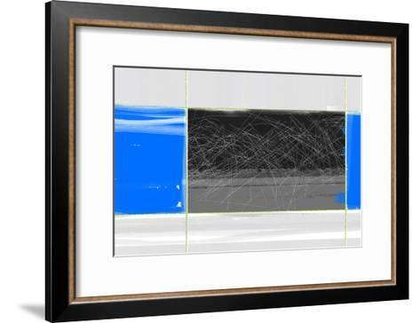 Abstract Blue and Grey-NaxArt-Framed Art Print