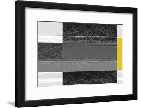 Abstract Grey and Yellow-NaxArt-Framed Art Print
