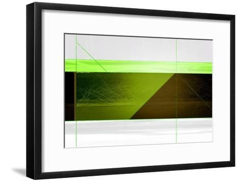 Abstract Brown and Green-NaxArt-Framed Art Print