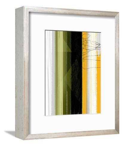 Abstract Green and Yellow-NaxArt-Framed Art Print