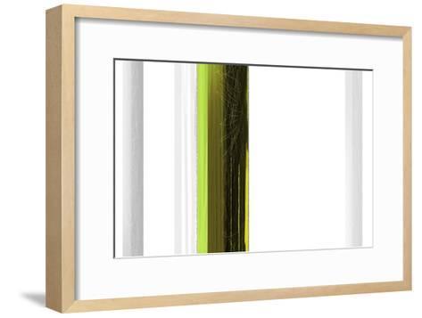 Abstract Green on White-NaxArt-Framed Art Print