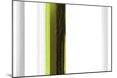 Abstract Green on White-NaxArt-Mounted Art Print