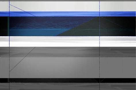 Abstract Grey and Blue-NaxArt-Stretched Canvas Print