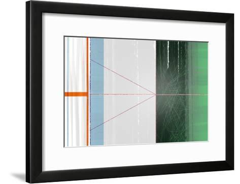 Abstract Orange and Green-NaxArt-Framed Art Print