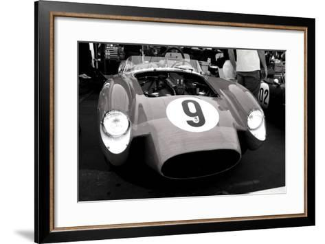 Ferrari Testa Rossa in the pits-NaxArt-Framed Art Print