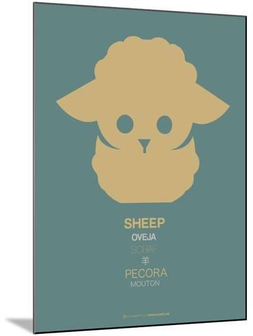 Yellow Sheep Multilingual Poster-NaxArt-Mounted Art Print