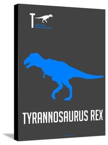 Blue Dinosaur-NaxArt-Stretched Canvas Print
