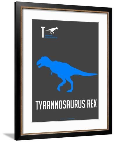 Blue Dinosaur-NaxArt-Framed Art Print