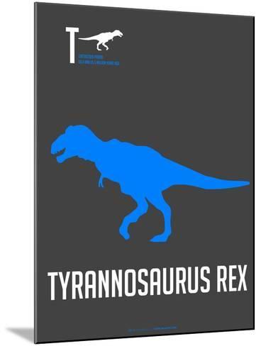 Blue Dinosaur-NaxArt-Mounted Art Print