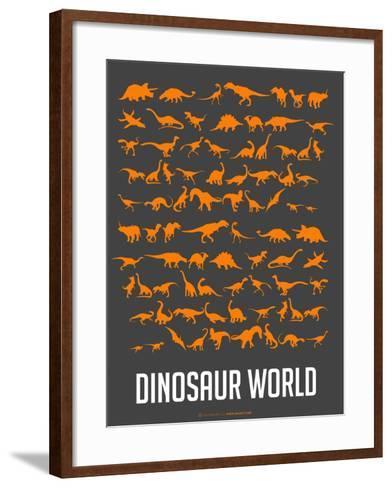 Dinosaur Poster Orange-NaxArt-Framed Art Print