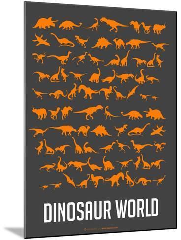 Dinosaur Poster Orange-NaxArt-Mounted Art Print