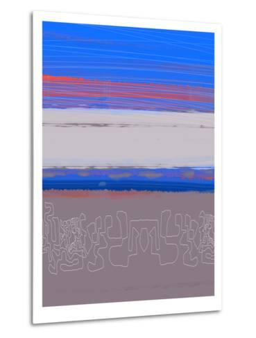 Abstract  Blue View 1-NaxArt-Metal Print
