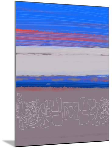Abstract  Blue View 1-NaxArt-Mounted Art Print
