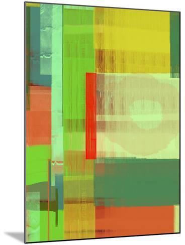 Green and Brown Abstract 3-NaxArt-Mounted Art Print