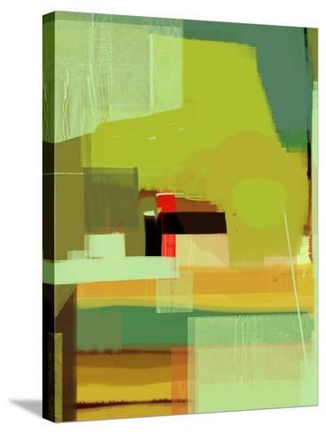 Green and Brown Abstract 5-NaxArt-Stretched Canvas Print