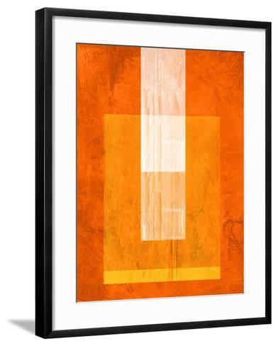 Orange Paper 2-NaxArt-Framed Art Print