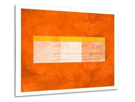Orange Paper 3-NaxArt-Metal Print