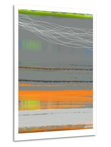 Abstract Orange Stripe1-NaxArt-Metal Print
