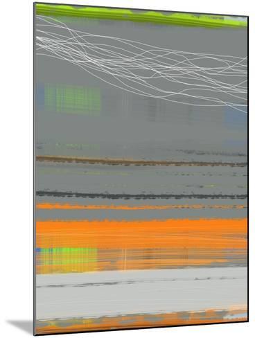 Abstract Orange Stripe1-NaxArt-Mounted Art Print