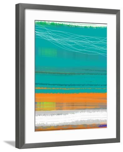 Abstract Orange Stripe2-NaxArt-Framed Art Print
