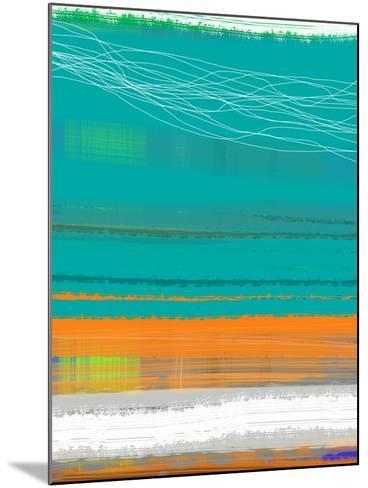 Abstract Orange Stripe2-NaxArt-Mounted Art Print