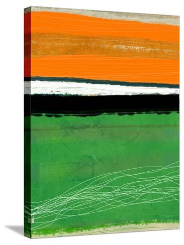 Orange and Green Abstract 1-NaxArt-Stretched Canvas Print
