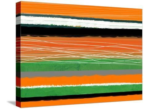 Orange and Green Abstract 3-NaxArt-Stretched Canvas Print