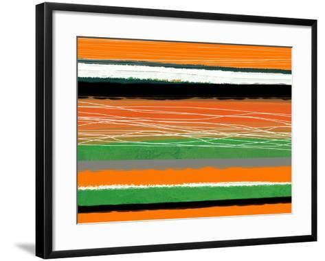 Orange and Green Abstract 3-NaxArt-Framed Art Print